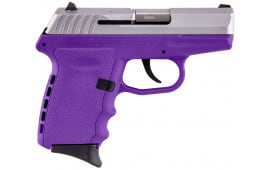 SCCY CPX-2 TTPU 9mm Polymer Frame Pistol, Stainless on Purple, DAO 10+1 w/ 2 Mags