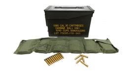 Korean Manufacture Surplus .30 M1 Carbine 110gr FMJ Ball Ammunition - 120rd Bandolier