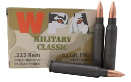 Wolf Military Classic .223 62gr FMJ Ammo - 500rd Case