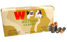 Wolf Military Classic .380 ACP Ammunition