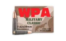 Wolf Military Classic 7.62x39  124gr FMJ Ammo - 1000rd Case