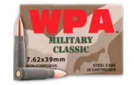 Wolf MC762BFMJ Military Classic 7.62x39 124 GR FMJ Ammo - 20rd Box