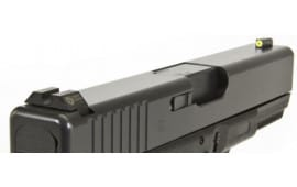 Night Fision GLK003014YGZ Night Sight Set Square Front/U-Notch Rear Glock 42/43 Green Tritium w/Yellow Outline Black