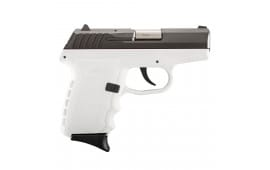 SCCY CPX-2 CBWT 9mm Pistol, 3.1in Barrel White Polymer Grip/Frame Black Nitride Stainless Steel - CPX2CBWT