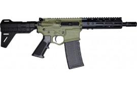 """ATI Omni Maxx Hybrid AR-15 Pistol, .300BLK Caliber, 8.5"""" Barrel, 7"""" M-LOK Rail w/ Blade Pistol Brace - Battlefield Green"""