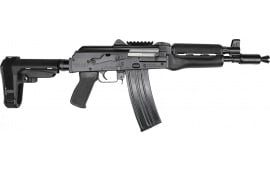 "Zastava ZPAP85 Semi-Automatic AK-47 Pistol 10.5"" Barrel .223/5.56NATO 30rd - Bulged Trunnion, Chrome-Lined Barrel, and SBA3 Brace - ZP85556TAB"