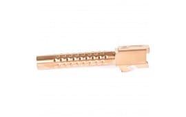 Zev Technologies BBL17DBRZ Match Grade Glock 17 Barrel, Dimpled, Bronze