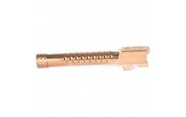 Zev Technologies BBL17DSBRZ Match Grade Glock 17 Barrel, Dimpled, Threaded, Bronze