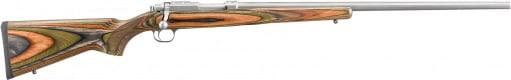 "Ruger 7204 77/22 Rotary Magazine Bolt .22 Hornet 24"" 6+1 Laminate Green Mountain Stock Stainless Steel"