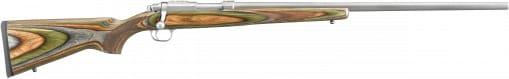 """Ruger 7212 77/17-VHZ .17 Hornet HB Grn Lam Stock/SS Bolt .17 Hornet 24"""" 6+1 Bolt"""