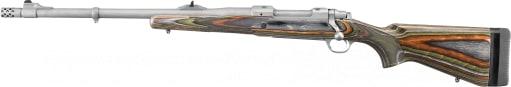 "Ruger 47124 Guide Gun Standard Bolt .375 Ruger 20"" 3+1 Laminate Green Mountain Stock Stainless Steel"