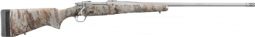 """Ruger 47166 Hawkeye FTW Hunter Bolt .375 Ruger 22"""" 3+1 Laminate Natural Gear Camo Stock Stainless Steel"""