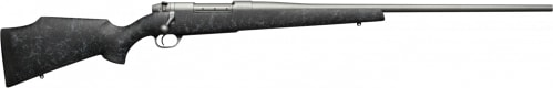 """Weatherby MWMM375HR4O Mark V Weathermark Bolt .357 H&H . Magnum 24.0"""" 3+1 Synthetic Black w/Grey Spiderweb Stock Stainless"""
