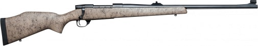 """Weatherby VGR375HR40S Vanguard Dangerous Game Rifle Bolt .357 H&H . Magnum 24"""" 3+1 Synthetic Tan w/Black Spiderweb Stock Blued"""