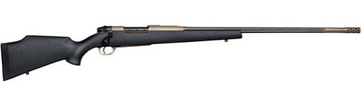 Weatherby MKCM257WR8B MKV KCR 257 WBY 28 Black Two-Tone Muzzle