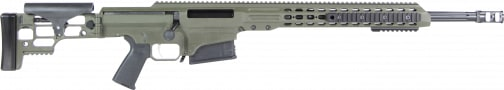 """Barrett 14380 MRAD Bolt .338 Lapua . Magnum 24"""" 10+1 Folding OD Green Stock OD Green/Black"""