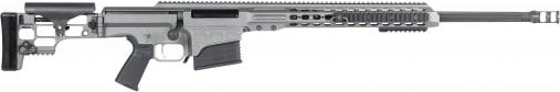 "Barrett 14388 MRAD Bolt .338 Lapua . Magnum 26"" 10+1 Folding Gray Stock Gray Cerakote/Black"