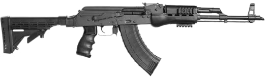 Blackheart Firearms AK-47 Model B10 7.62x39 - Black with Phoenix Technology KickLite Buttstock, Pistol Grip, & Handguard BFV762-B10A-BLKP