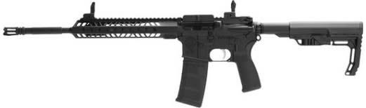 "Standard Manufacturing STD15BLH STD-15 5.56 16"" Left Hand KM Flip Sights"