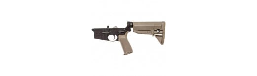 Bravo BCM Lower Receiver Group w/ Stock Mod 0 Multi Caliber (Flat Dark Earth) - LRG-STK-MOD-0-FDE