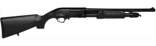 "Iver Johnson Arms PAS12 Johnson Shotgun 12GA. 3"" 18"" Cylinder Blued Synthetic Shotgun"
