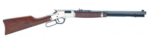 "Henry H006S Big Boy Silver Lever 44 Magnum 20"" 10+1 American Walnut Stock Blued Barrel/Silver Receiver"