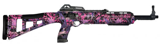 "Hi-Point 4095TSPI 4095TS Tactical Rifle Semi-Auto 40 Smith & Wesson 16.5"" 10+1 Polymer Skeleton Pink Camo Stock Pink Camo"