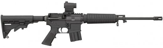 "Bushmaster 91046 QRC SA 223 Rem/5.56 NATO 16"" FH 30+1 Red Dot 6Pos Stock Black"