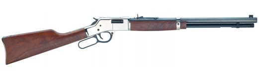 """Henry H006SD Big Boy Silver Deluxe Engraved Lever 44 Magnum 20"""" 10+1 American Walnut Stock Blued Barrel/Silver Receiver"""
