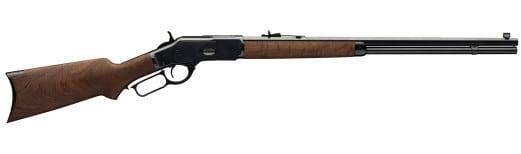 "Winchester Guns 534229137 1873 Sporter Lever 357 Mag/38 Special 24"" 14+1 Black Walnut Stock Blued"
