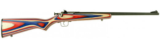 "Crickett KSA2253 Single Shot Bolt 22 LR 16.12"" 1 Laminate Red/White/Blue Stock Blued"