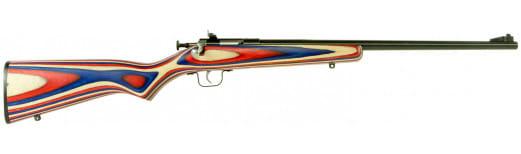 "Crickett KSA2253 Single Shot Bolt 22 LR 16.12"" 1 Laminate Red/White/Blue Stock Blued"