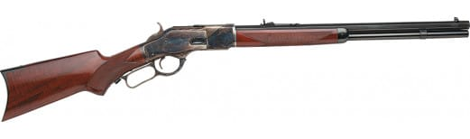 "Taylors and Company 2012 1873 Taylor''s Trapper Lever 357 Magnum 18"" 10+1 Walnut Pistol Grip Stock Blued Barrel/Color Case Hardened Receive"