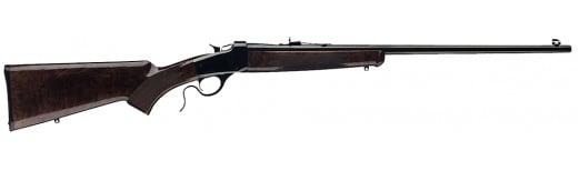 "Winchester Guns 524100170 1885 Hunter Falling Block 17 HMR 24"" 1 Walnut Oil Finish Stock Blued High Polish"