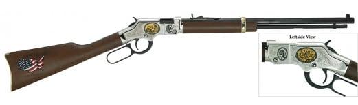 "Henry H004CM2 Golden Boy Coal Miner Tribute II Lever 22 Short/Long/Long Rifle 20"" 16 LR/21 Short American Walnut Stock Blued"