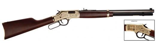 "Henry H006OM Big Boy American Oilman Tribute Lever 44 Magnum 20"" 10+1 American Walnut Stock Blued"