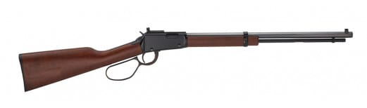 """Henry H001TLP Small Game Carbine Lever Action 22 LR Lever 22 Short/Long/Long Rifle 16.25"""" 12+1 American Walnut Stock Blued"""
