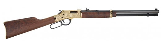 "Henry H006D3 Big Boy Deluxe Engraved 3rd Edition 44 Magnum Lever 44 Magnum 20"" 10+1 American Walnut Stock Blued Barrel/Brass Receiver"