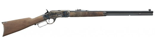 """Winchester Model 1873 Lever Action, 357 Magnum/38 Special, With 24"""" Octagon BBL, 14+1 Grade II/III Walnut Stock Blued"""