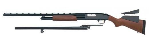 """Mossberg 59814 500 Pump 12GA 28"""" 3"""" Wood Stock Blued Rcvr"""