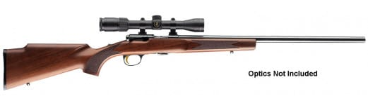"Browning 025176270 T-Bolt Target/Varmint Bolt 17 Hornady Magnum Rimfire (HMR) 22"" 10+1 Walnut Stock Blued"