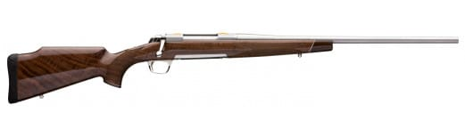 """Browning 035235248 X-Bolt White Gold Bolt 270 Winchester Short Magnum (WSM) 23"""" 3+1 Walnut Stock Stainless Steel"""