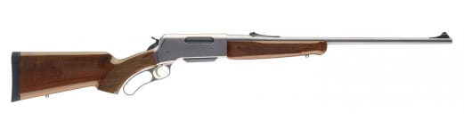 """Browning 034018148 BLR Lightweight Stainless with Pistol Grip Lever 270 Winchester Short Magnum (WSM) 22"""" 3+1 Walnut Stock Stainless Steel"""