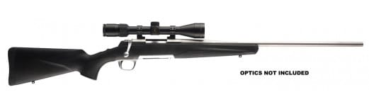 """Browning 035202231 X-Bolt Stainless Stalker 338 WinMag 26"""" 3+1 Black Synthetic Stock SS"""