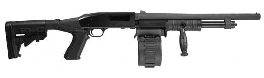 "Adaptive Tactical 00201 Sidewinder Mav 88 Pump 12GA 18.5"" 2.75"" 10+1 Adj Stock Black"
