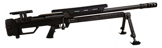 "Steyr 61.050.1 HS .50-M1 Bolt 50BMG 24"" 4+1 High Rail Synthetic Black Stock Black"