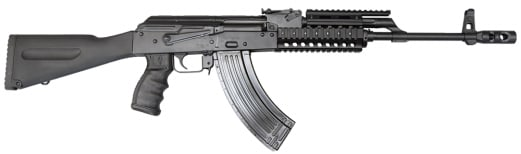 AK-47 Rifle 7.62x39 Semi-Auto, W / 1-30 Round Mag, Phoenix Stock and Premium Grip and Quad Rail Forearm, Model JRAK-AMD