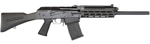 "EM-12B AK Style 12GA Semi - Auto Shotgun, Mag Fed, 3"" Chambers, Black"