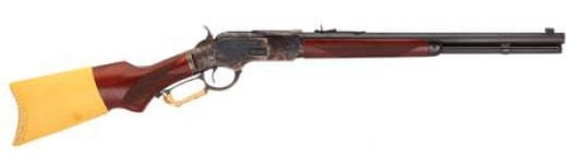 "Taylors and Company 2025COM 1873 Comanchero Taylor Tuned Lever 18"" 10+1 Walnut Pistol Grip Stock Case Hardened Receiver/Blued Barrel"