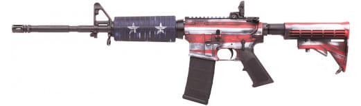 "Colt AR-15 M4 16.1"" Barrel 223/5.56 USA Flag- Red, White, & Blue - LE6920USA"